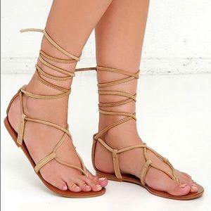 Steve Madden Suede Wrap Sandals